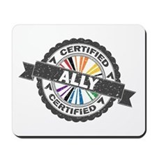 Certified LGBT Ally Stamp Mousepad