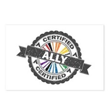 Certified LGBT Ally Stamp Postcards (Package of 8)