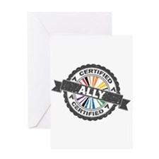 Certified LGBT Ally Stamp Greeting Card