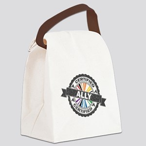 Certified LGBT Ally Stamp Canvas Lunch Bag