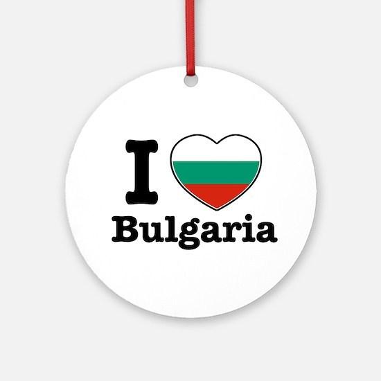 I love Bulgaria Ornament (Round)