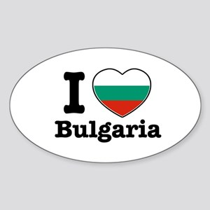 I love Bulgaria Oval Sticker