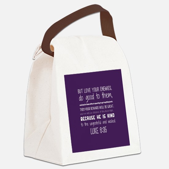 Bible Verse Luke 6:35 Canvas Lunch Bag