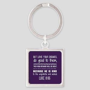 Bible Verse Luke 6:35 Square Keychain