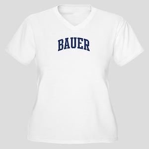 BAUER design (blue) Women's Plus Size V-Neck T-Shi