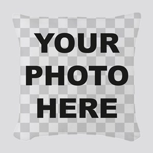 Your Photo Here Woven Throw Pillow