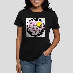 Softball Girl Women's Dark T-Shirt