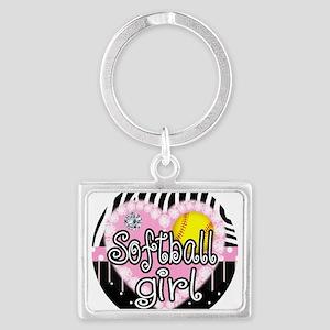 Softball Girl Landscape Keychain