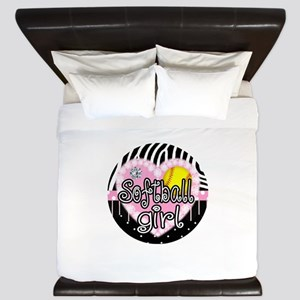 Softball Girl King Duvet