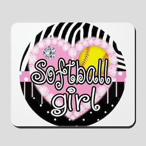 Softball Girl Mousepad