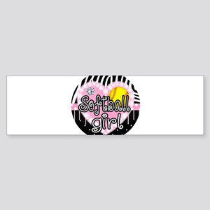 Softball Girl Sticker (Bumper)
