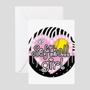 Softball Girl Greeting Card