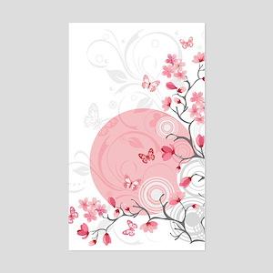 Bright Cherry Flowers Sticker (Rectangle)