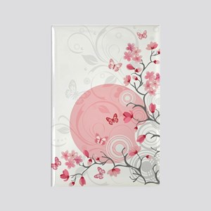 Bright Cherry Flowers Rectangle Magnet