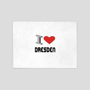 I Love Dresden City 5'x7'Area Rug