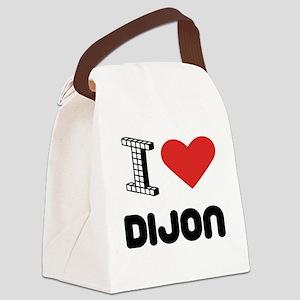 I Love Dijon City Canvas Lunch Bag