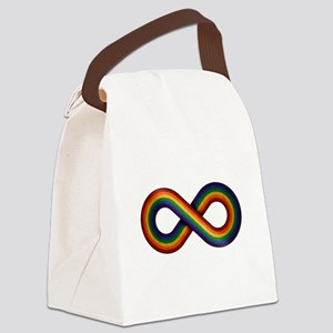 Rainbow Infinity Canvas Lunch Bag