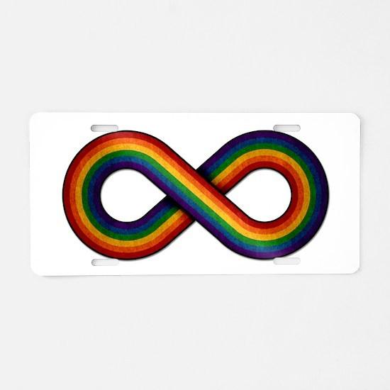 Rainbow Infinity Aluminum License Plate