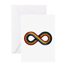 Rainbow Infinity Greeting Cards