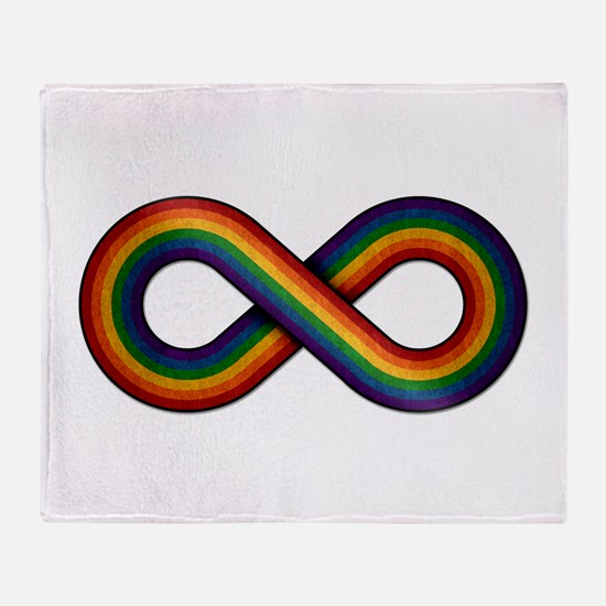 Rainbow Infinity Throw Blanket