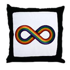 Rainbow Infinity Throw Pillow