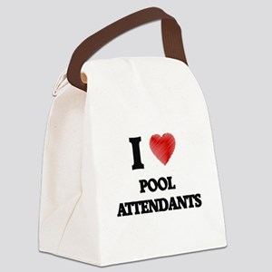 I love Pool Attendants Canvas Lunch Bag