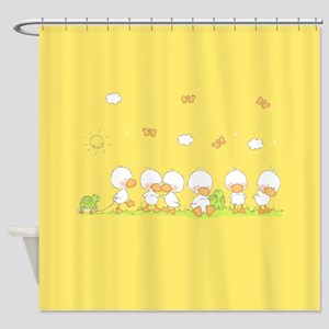 Duck and Turtle on Shower Curtain