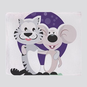 Cute Cat & Mousethrow Blanket