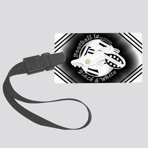 Black and White Football Soccer Luggage Tag