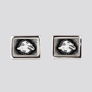 Black and White Football Soccer Rectangular Cuffli