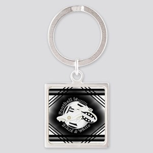 Black and White Football Soccer Keychains