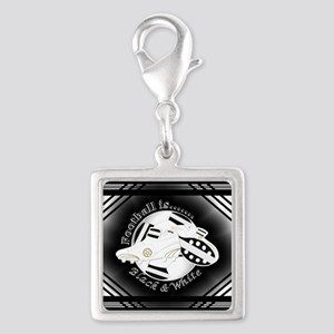 Black and White Football Soccer Charms
