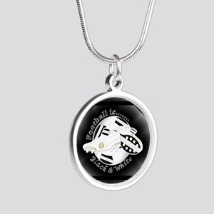 Black and White Football Soccer Necklaces