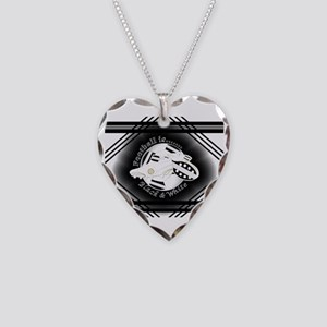 Black and White Football Soccer Necklace