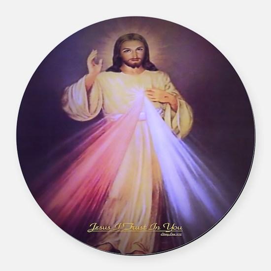 Divine Mercy Gold 2013 Round Car Magnet