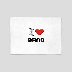 I Love Brno City 5'x7'Area Rug