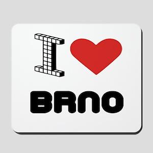 I Love Brno City Mousepad
