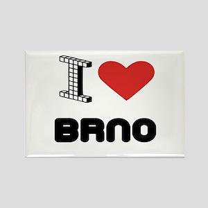 I Love Brno City Rectangle Magnet