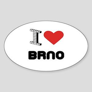 I Love Brno City Sticker (Oval)