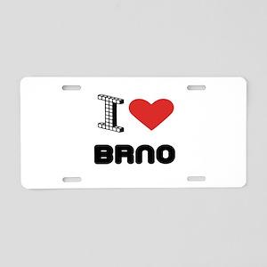 I Love Brno City Aluminum License Plate