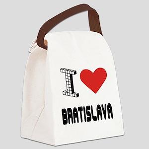 I Love Bratislava City Canvas Lunch Bag