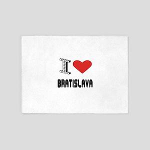 I Love Bratislava City 5'x7'Area Rug