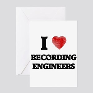 I love Recording Engineers Greeting Cards