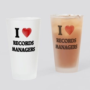 I love Records Managers Drinking Glass