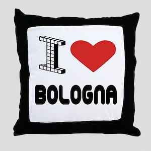 I Love Bologna City Throw Pillow