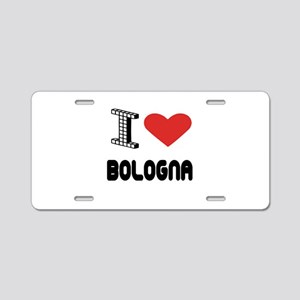 I Love Bologna City Aluminum License Plate