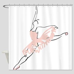 Pretty Pink Ballerina Shower Curtain