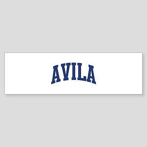 AVILA design (blue) Bumper Sticker