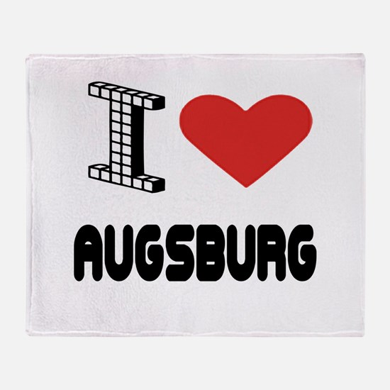 I Love Augsburg City Throw Blanket