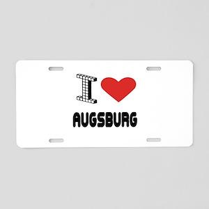 I Love Augsburg City Aluminum License Plate